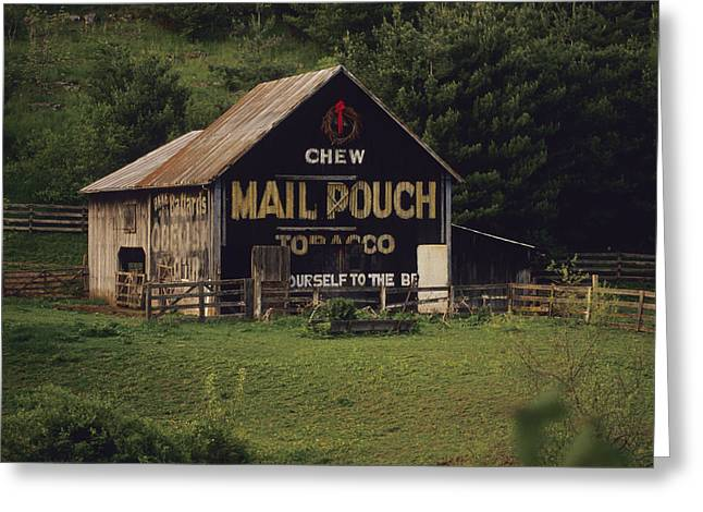 Lewisburg Greeting Cards - An Old Barn Sporting Advertising Greeting Card by Raymond Gehman
