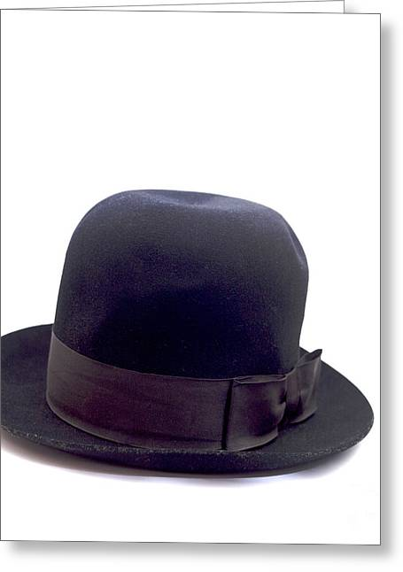 Bowler Greeting Cards - An old hat for a man Greeting Card by Bernard Jaubert