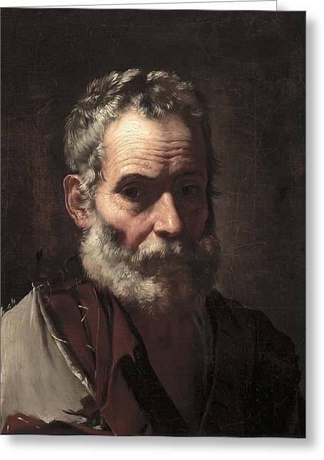 Old Age Paintings Greeting Cards - An Old Man Greeting Card by Jusepe de Ribera