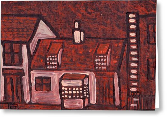 In-city Pastels Greeting Cards - An old property in durham city Greeting Card by Peter  McPartlin