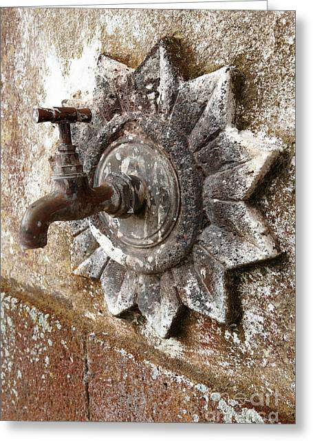 Faucet Greeting Cards - An old tap Greeting Card by Gaspar Avila