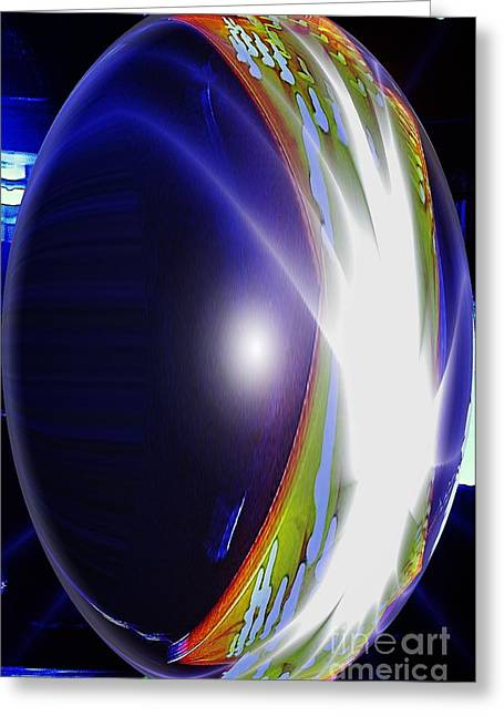 Australia Greeting Cards - An Orb in Abstract Greeting Card by Blair Stuart