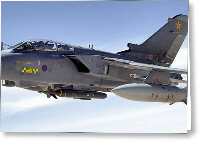 Mechanism Greeting Cards - An Raf Tornado Gr-4 Takes On Fuel Greeting Card by Stocktrek Images