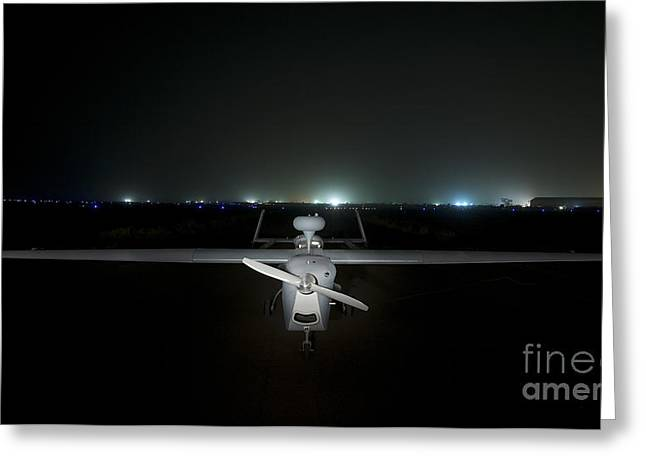 Cob Speicher Greeting Cards - An Rq-5 Hunter Unmanned Aerial Vehicle Greeting Card by Terry Moore