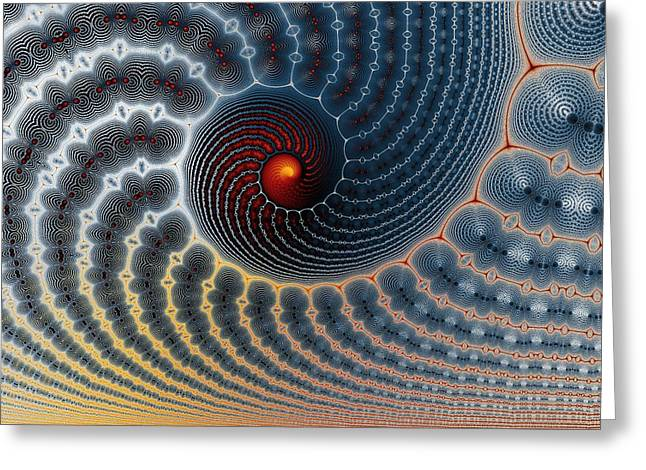 Mark Eggleston Greeting Cards - An Uncommon Spiral Greeting Card by Mark Eggleston