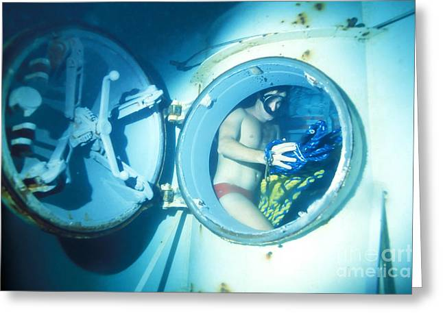 Undersea Photography Greeting Cards - An Underwater Demoltion Team Greeting Card by Michael Wood