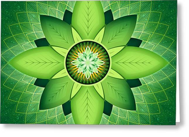 Anahata Greeting Cards - Anahata Greeting Card by Soul Structures