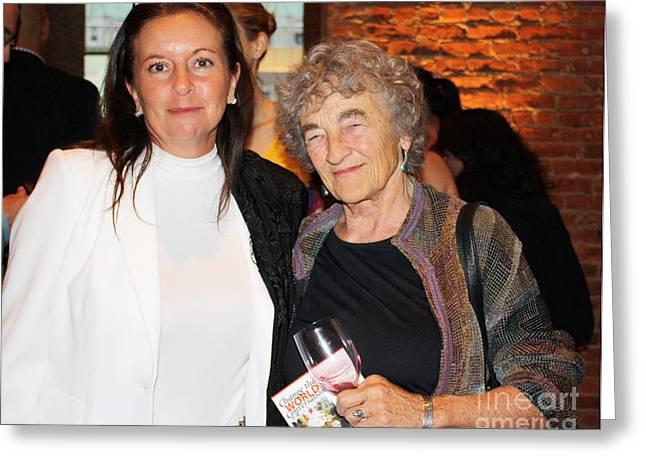 Award Digital Art Greeting Cards - Anahi DeCanio and Lucy R. Lippard Greeting Card by Anahi DeCanio