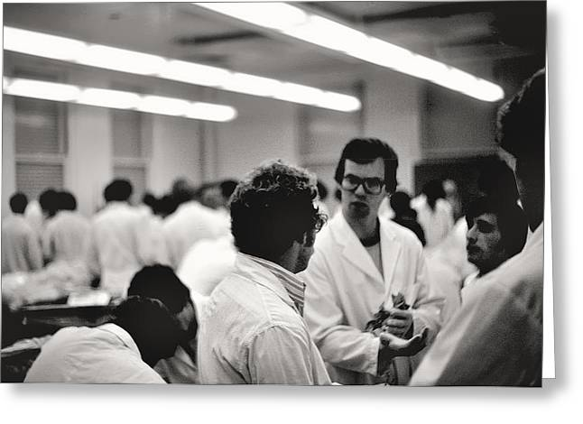 Pritzker School Of Medicine Greeting Cards - Anatomy Lab No.3 University of Chicago 1976 Greeting Card by Joseph Duba