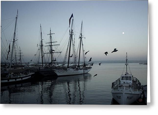 Tall Ships Greeting Cards - Anchor Watch Greeting Card by Brad Holderman