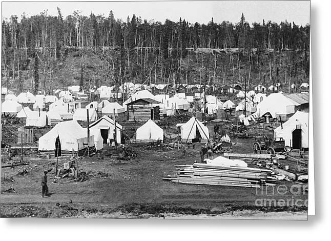 Early American Dwellings Greeting Cards - Anchorage, Alaska In 1915 Greeting Card by Photo Researchers