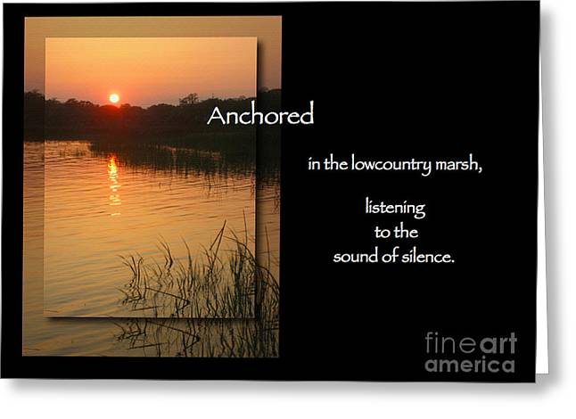 Anchored Greeting Card by Judee Stalmack