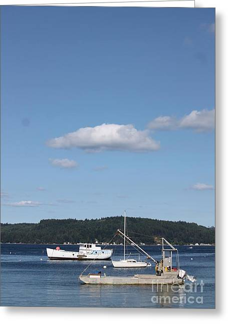 Trowl Greeting Cards - Anchored Together Greeting Card by Terri Thompson