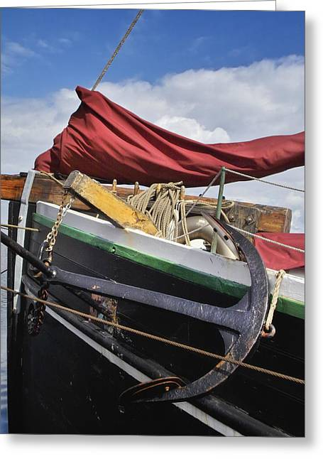 Wooden Ship Greeting Cards - Anchors Up Greeting Card by Robert Lacy