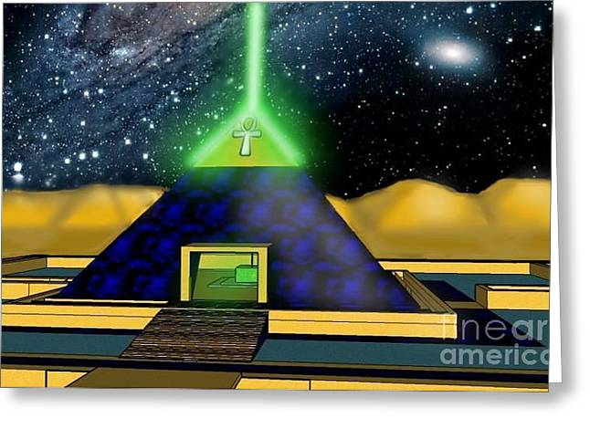 Moat Mountain Greeting Cards - Ancient Aliens  Greeting Card by Jordan  Powers