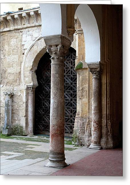 Southern Province Greeting Cards - Ancient Arches Greeting Card by Lorraine Devon Wilke