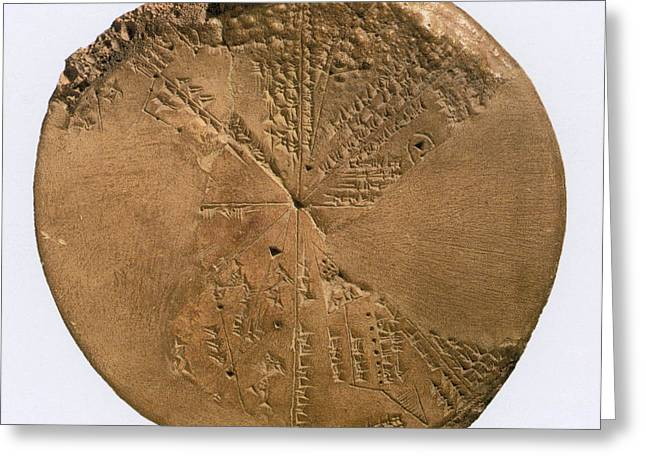Babylonia Greeting Cards - Ancient Astronomical Calendar Greeting Card by Science Source