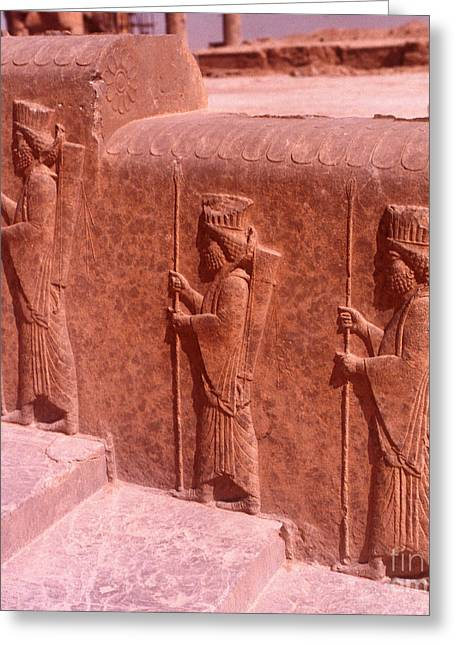 Ancient Persian Art Greeting Cards - Ancient Carvings Greeting Card by Photo Researchers