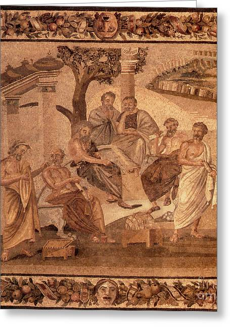 Epicurus Greeting Cards - Ancient Greco-roman Greeting Card by Photo Researchers