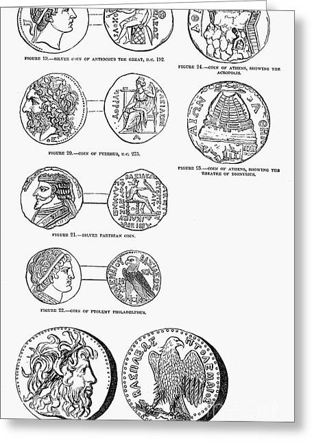 Ancient Greek Coins Greeting Card by Granger