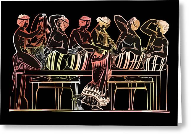 James Hill Greeting Cards - Ancient Greek Fashion Greeting Card by James Hill