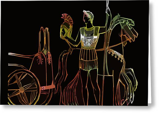 James Hill Greeting Cards - Ancient Greek Olympics Greeting Card by James Hill