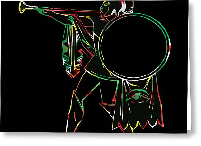James Hill Greeting Cards - Ancient Greek Warrior Greeting Card by James Hill