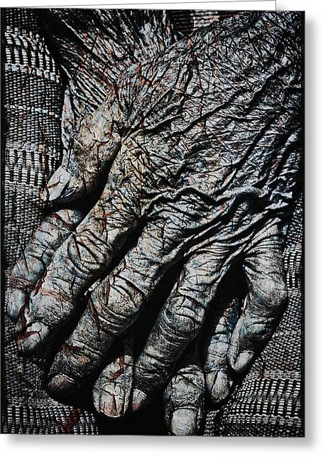 Reverence Greeting Cards - Ancient Hands Greeting Card by Skip Nall