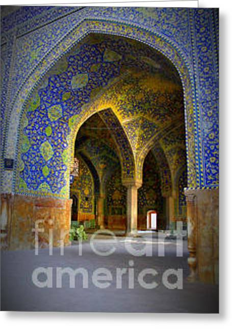 Ancient Artizen Greeting Cards - Ancient Mosque Greeting Card by Afshin Ghaziasgar