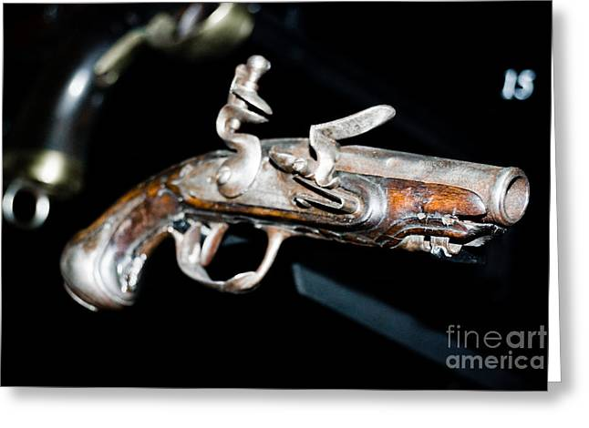Sardinelly Greeting Cards - Ancient Pistol Greeting Card by Yurix Sardinelly