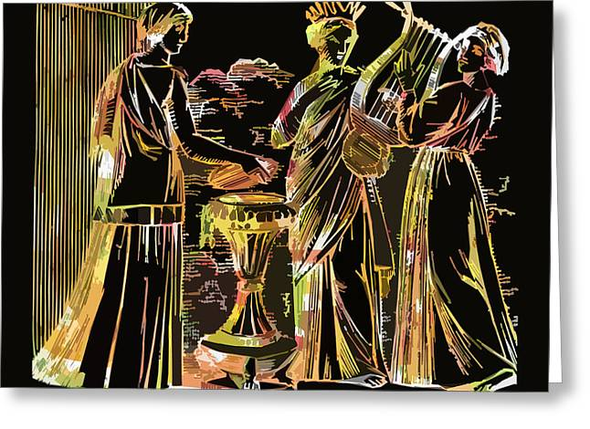 James Hill Greeting Cards - Ancient Roman Fashions Greeting Card by James Hill