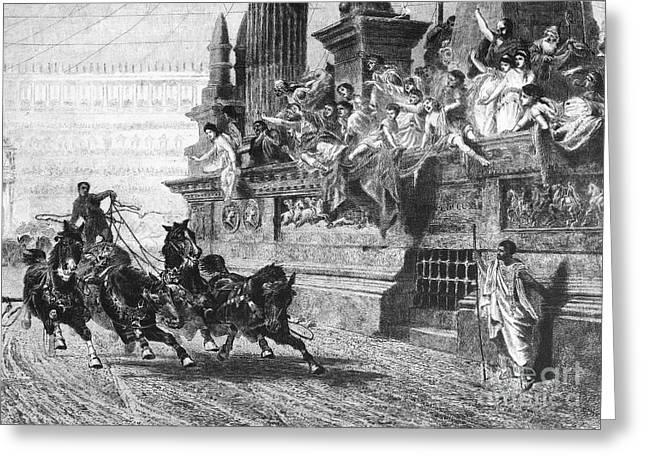 Ancient Rome: Chariot Race Greeting Card by Granger