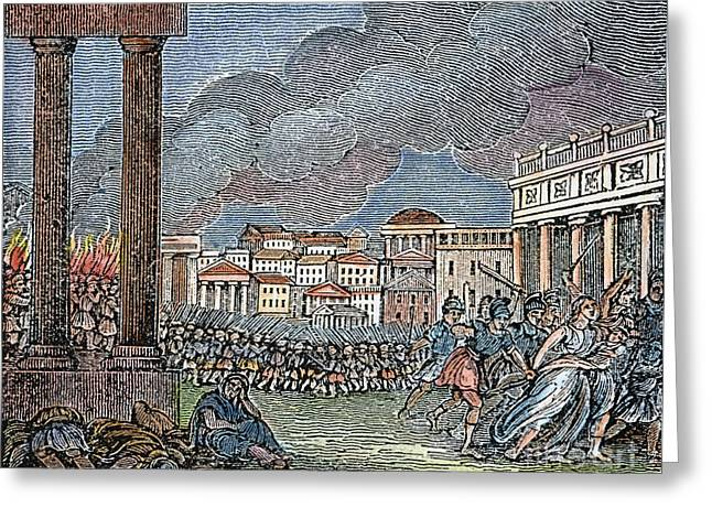 Ancient Rome Plundered Greeting Card by Granger