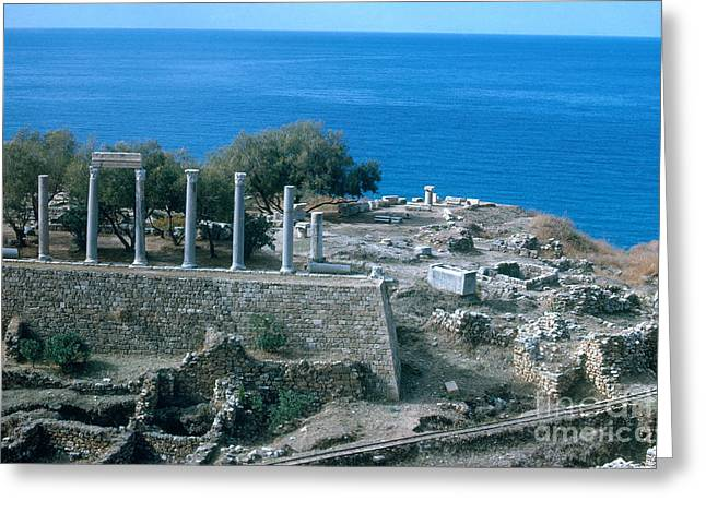 Ancient Ruins Greeting Cards - Ancient Ruins, Lebanon Greeting Card by Photo Researchers, Inc.