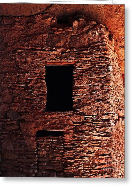 Dwelling Digital Art Greeting Cards - Ancient Smoke House Greeting Card by Terril Heilman