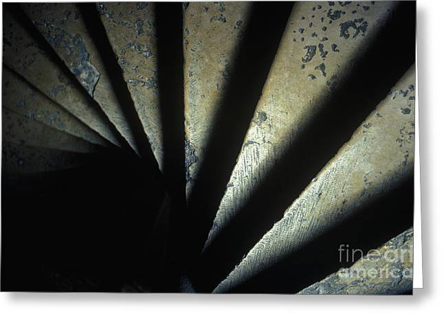 Dijon Greeting Cards - Ancient Stone Spiral Staircase Greeting Card by Will & Deni McIntyre