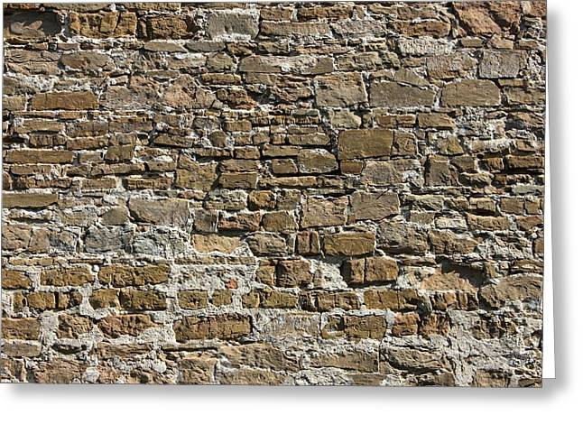 Ancient Stone Wall Background Greeting Card by Kiril Stanchev