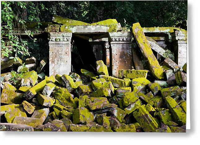 Devastated Greeting Cards - Ancient Temple Ruins Greeting Card by Artur Bogacki
