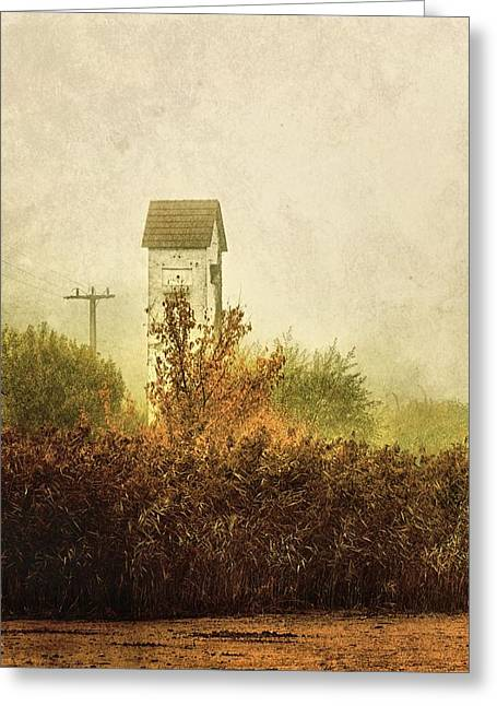 Transformer Greeting Cards - Ancient Transformer Tower Greeting Card by Mandy Tabatt