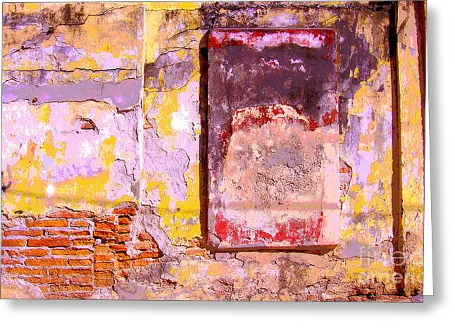 Ancient Wall 7 by Michael Fitzpatrick Greeting Card by Olden Mexico
