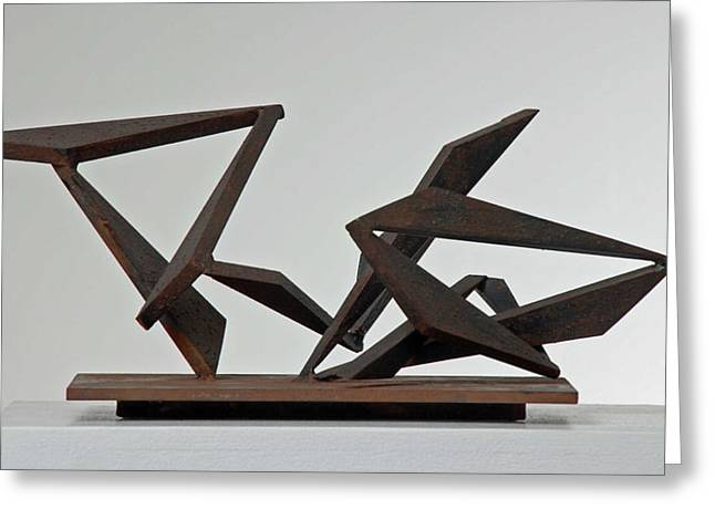 Abstract Movement Sculptures Greeting Cards - And The Band Played On Greeting Card by John Neumann