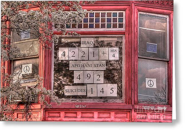 War Dead Greeting Cards - And the number is still rising... Greeting Card by David Bearden