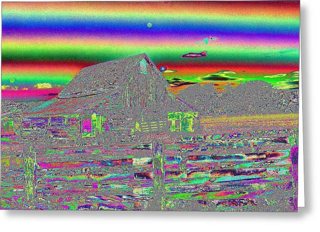 Ranch Digital Art Greeting Cards - And There Were Rainbows Greeting Card by Jeff  Swan