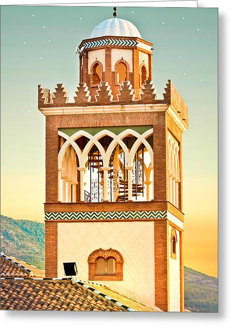 Andalusian Greeting Cards - Andalucian minaret Greeting Card by Tom Gowanlock