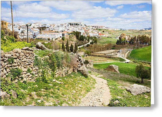 Pueblo Blanco Greeting Cards - Andalusia Countryside in Spain Greeting Card by Artur Bogacki