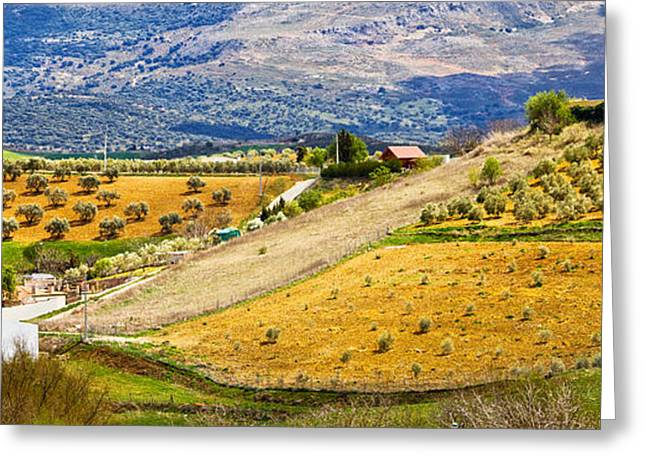 Southern Province Greeting Cards - Andalusia Countryside Panorama Greeting Card by Artur Bogacki