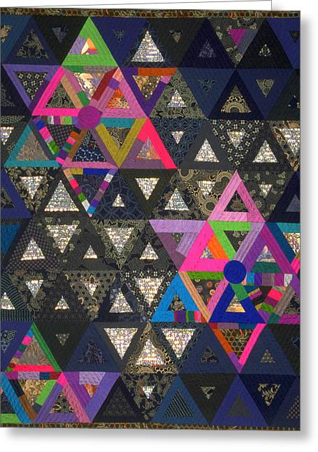 Star Tapestries - Textiles Greeting Cards - Andalusian Odyssey Greeting Card by Marilyn Henrion