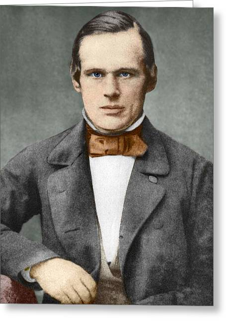 Surname A Greeting Cards - Anders Angstrom, Swedish Physicist Greeting Card by Sheila Terry