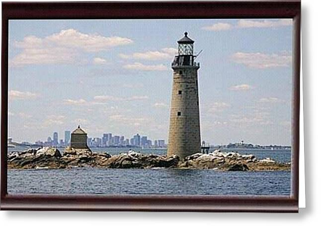 Anderson Family LKighthouse Greeting Card by Robert Anderson