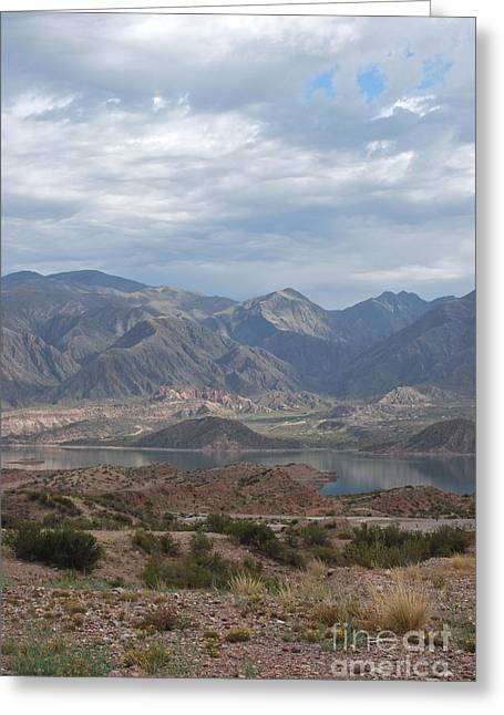 Andes Greeting Card by Jen Bodendorfer